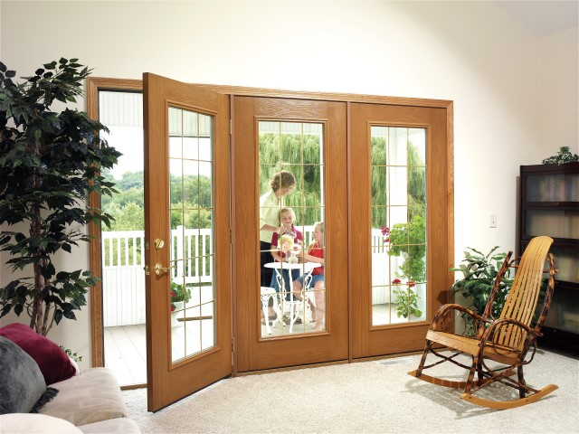 Fiberglass filled custom door thermal windows